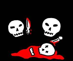 Two skulls murdered a third