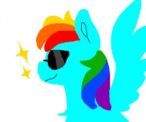 Rainbow Dash with sunglasses