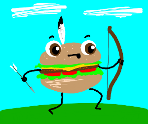 Burger with a bow