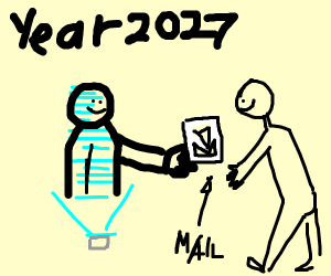 Mailing a letter 8 years in the future