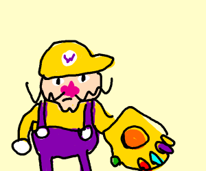 Wario got the infinity gauntlet