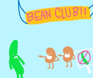 no green beans allowed
