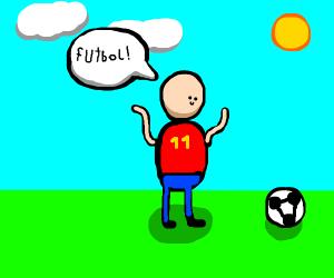 Person likes futbol.
