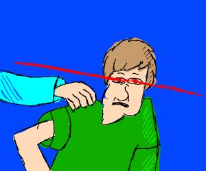Like, Zoinks! I got laser eyes, Scoob!