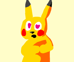 Pikachu in love with U