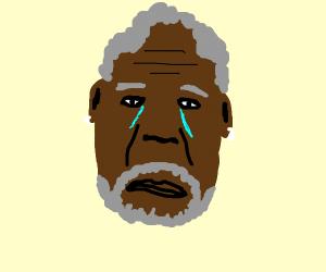 Depressed Morgan Freeman