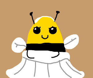 Bee in a Wedding Gown