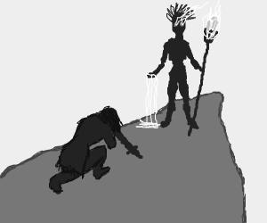 Warrior queen seeks shaman's wisdom