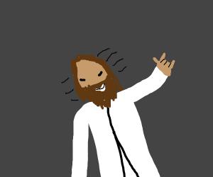 Jesus Headbanging
