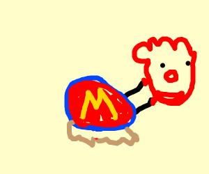 Ronald McDonald snail