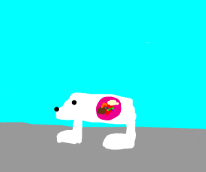 Tropical Polar Bear Heart