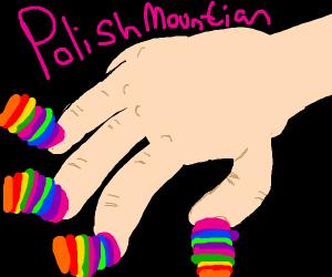 100 coats of nail polish!