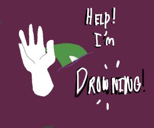 Drawception D drowns.