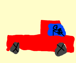 very good red truck