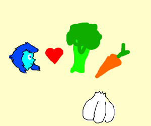 lapis (steven universe) loves vegetables