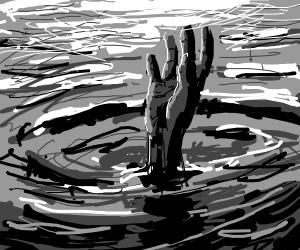 man die in the middle of the ocean