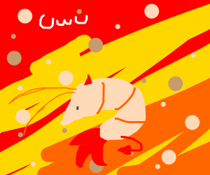 the devil in hell also hes a shrimp