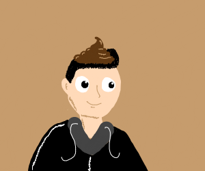 man with a weird brown thing on his head