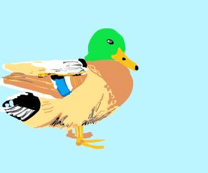 A duck. Quack! Quack!