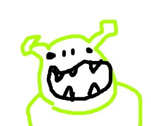 Shrek but no legs or arms