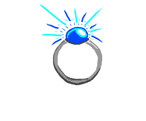 Magic ring with big sapphire