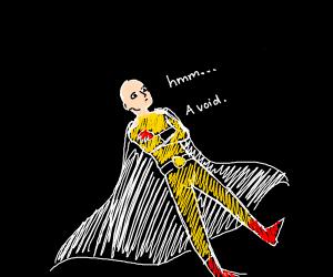 saitama is in a dark void