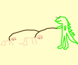 lizard dude accept humans as slaves