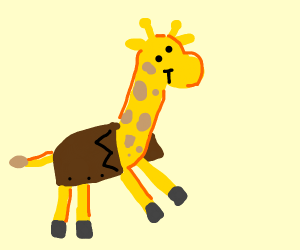 Giraffe wearing a Coat