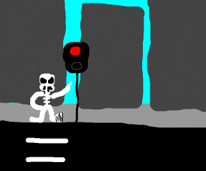 Skeleton obsessed with safety