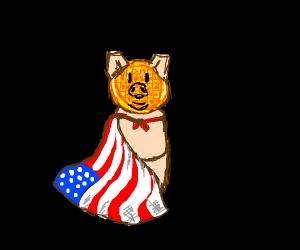 American waffle pig