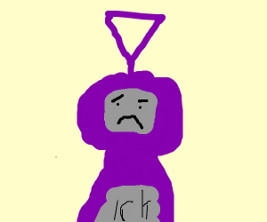 purple teletubbie is disturbed D: