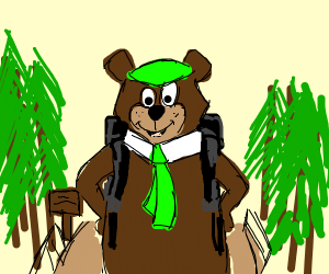 Yogi Bear Hiking