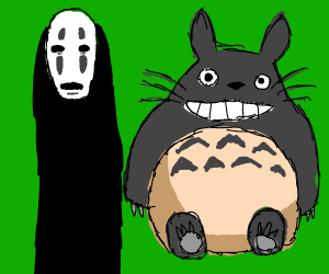 no-face and totoro