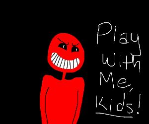 Creepy red guy