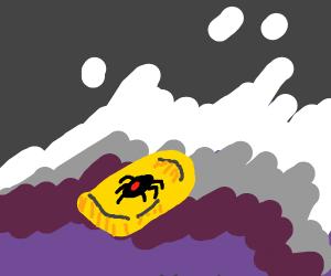 spider surfin' a radical wave yo