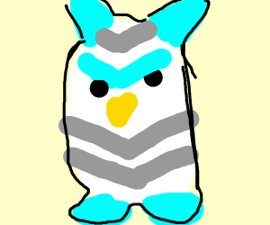 An angry Furby