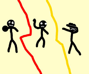 Stickman demonstrating Whip, Nay Nay, and Dab