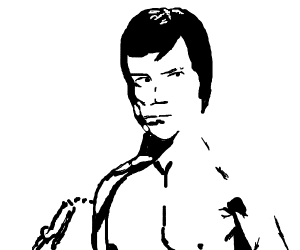 Bruce Lee w/nunchucks