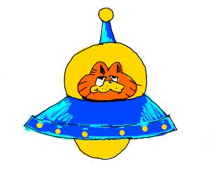 Garfield has a UFO