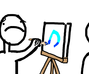 guy doesn't like drawing