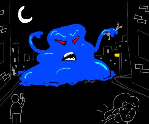 evil blue slime