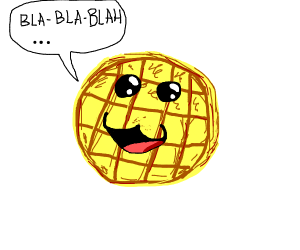 Speaking waffle