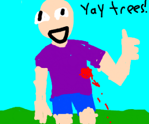 Injured Person likes trees