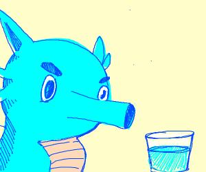 Seahorse pokemon staring at water