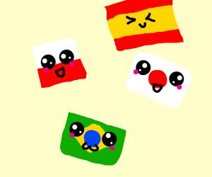 kawaii flags