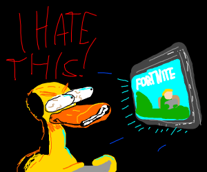 Duck hates Fortnite