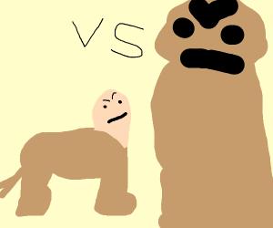 tiny centaur vs giant gorilla