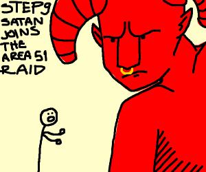step 8: reassure satan