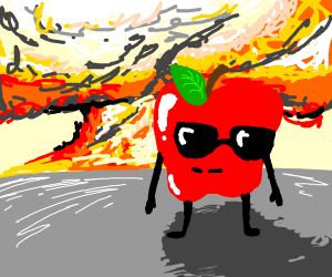 Cool apples don't look at explosions