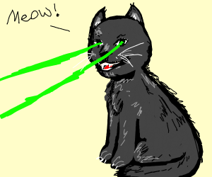 Cat with a eye of lasers
